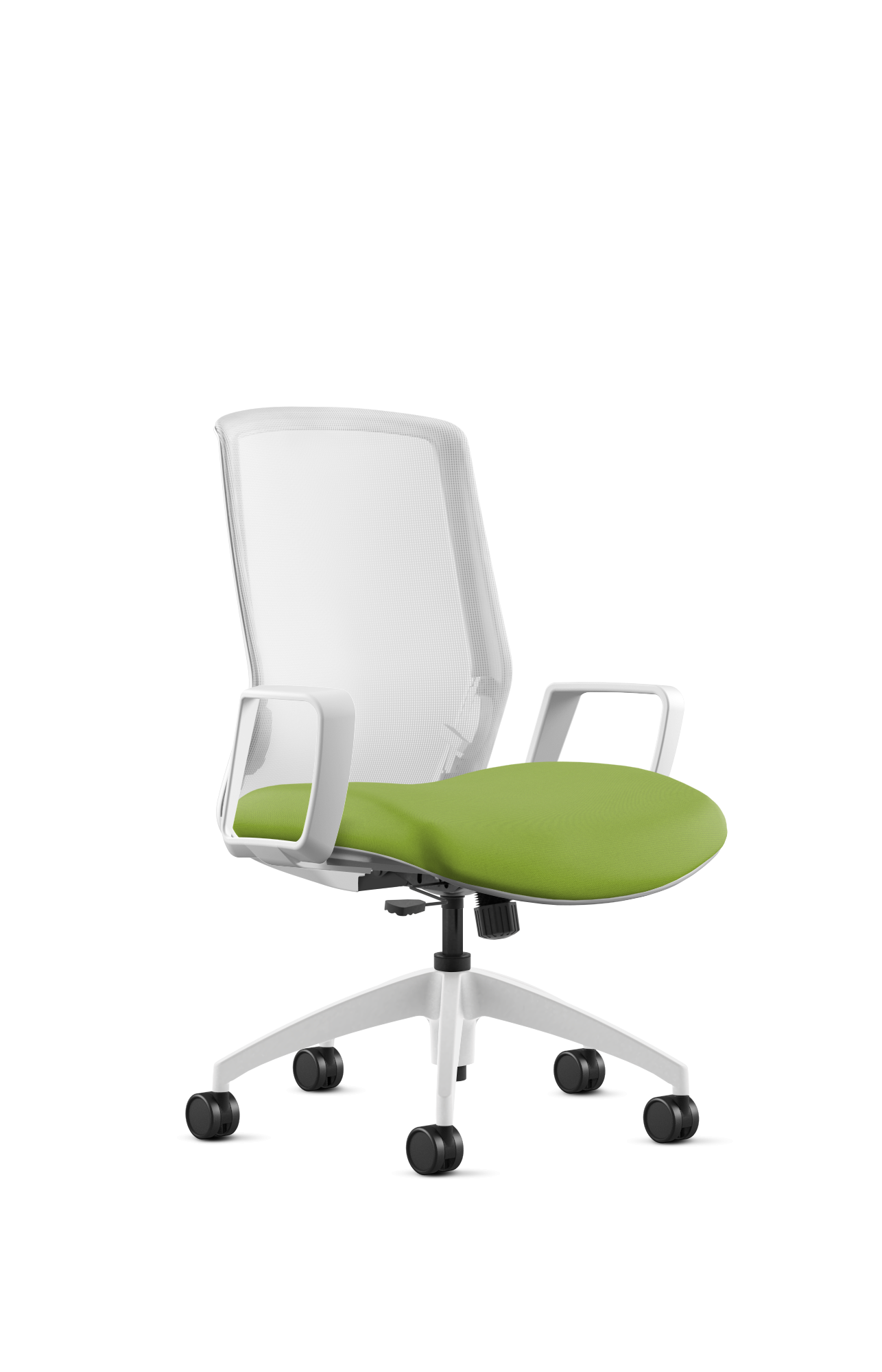 This colorful, lime green desk chair that can bring a chic touch