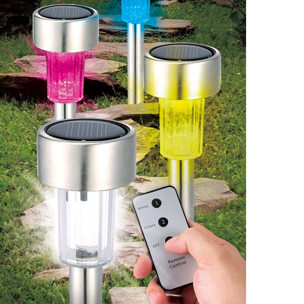 Solar Lights Za: Set Of 4 Colour-changing Solar Lights With Remote Control