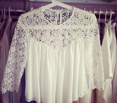 Flowy white top