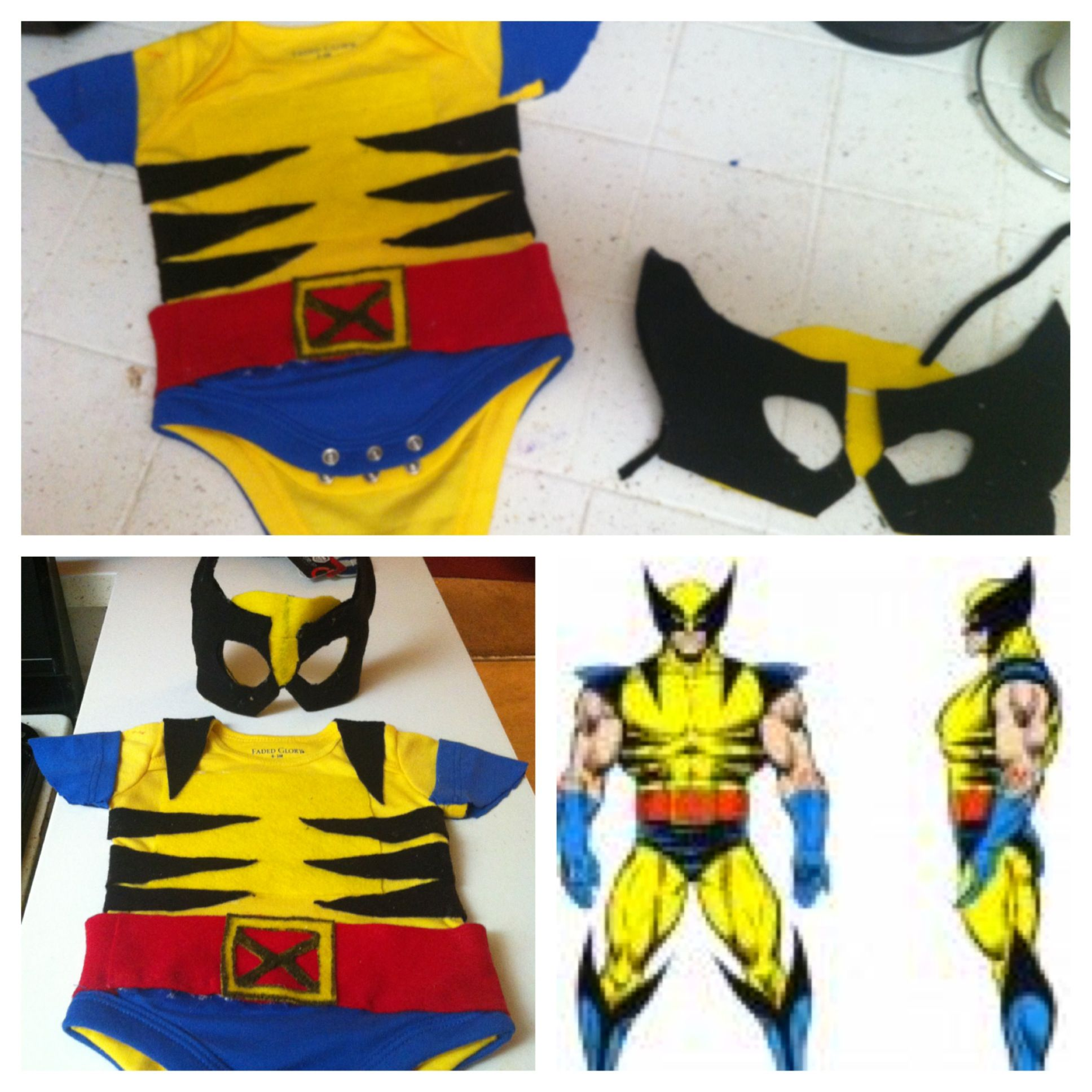 Wolverine xmen baby costume for cosplay or Halloween or for fun ...