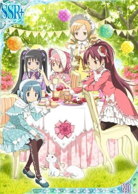 Pin By Shinoa On Madoka Magica Cards Madoka Magica Anime Tea Party