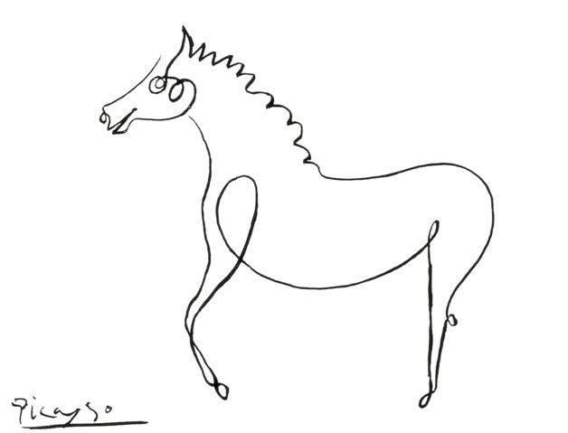 Line Drawing Picasso : Picasso line drawings horse pixshark images