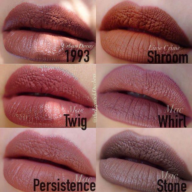 #lipstick #ud1993 #lcshroom #mac #mactwig #macwhirl #macpersistence #macstone #liptrends #lipchart
