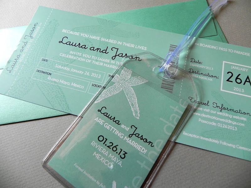 save the date luggage tags | Wedding with Boarding Pass Invitations ...