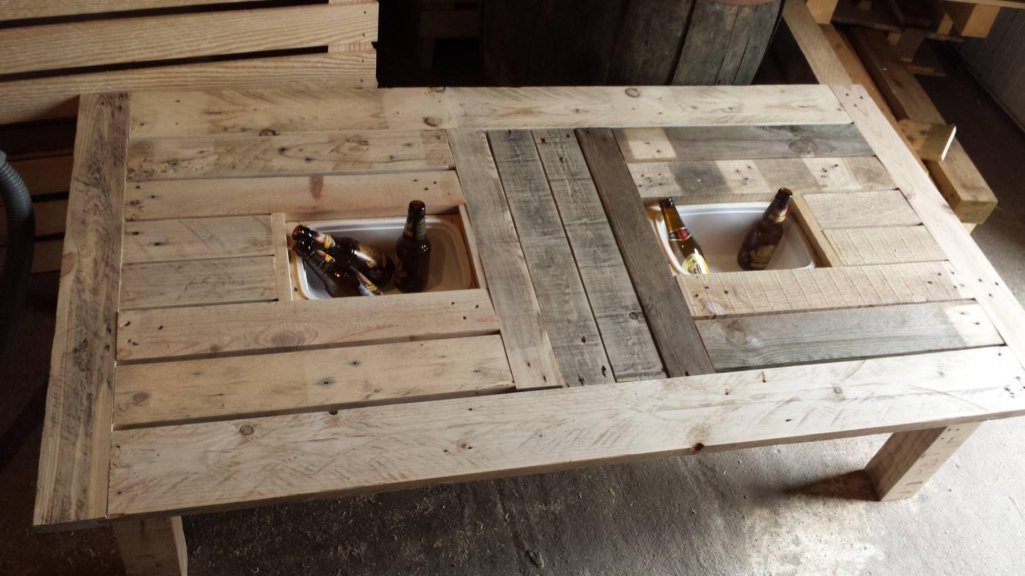 table exterieur avec bac gla on objet et meuble en palette meubles palettes id e avec. Black Bedroom Furniture Sets. Home Design Ideas