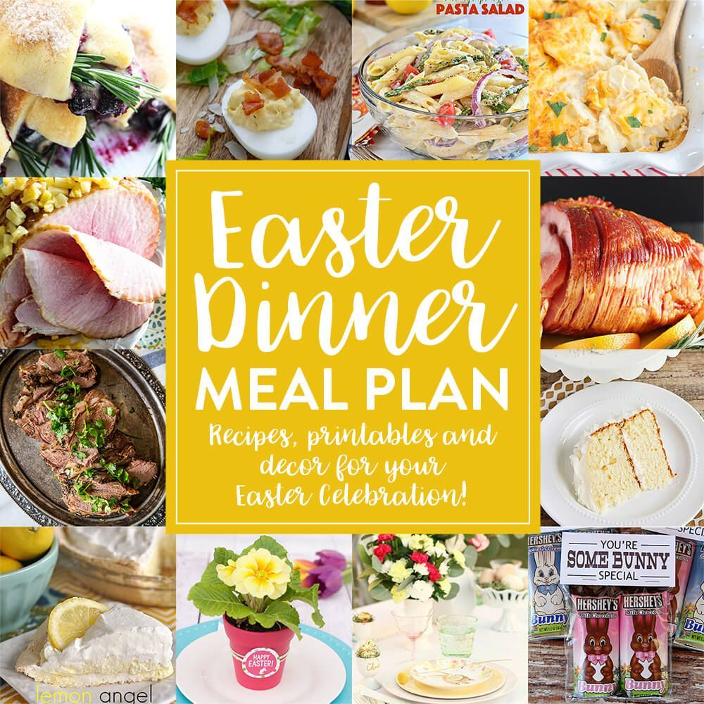 Easter Dinner Meal Plan  Easter Dinner Meal Plan  How to Plan Your Easter Dinner Everything You Need from Recipes to Print