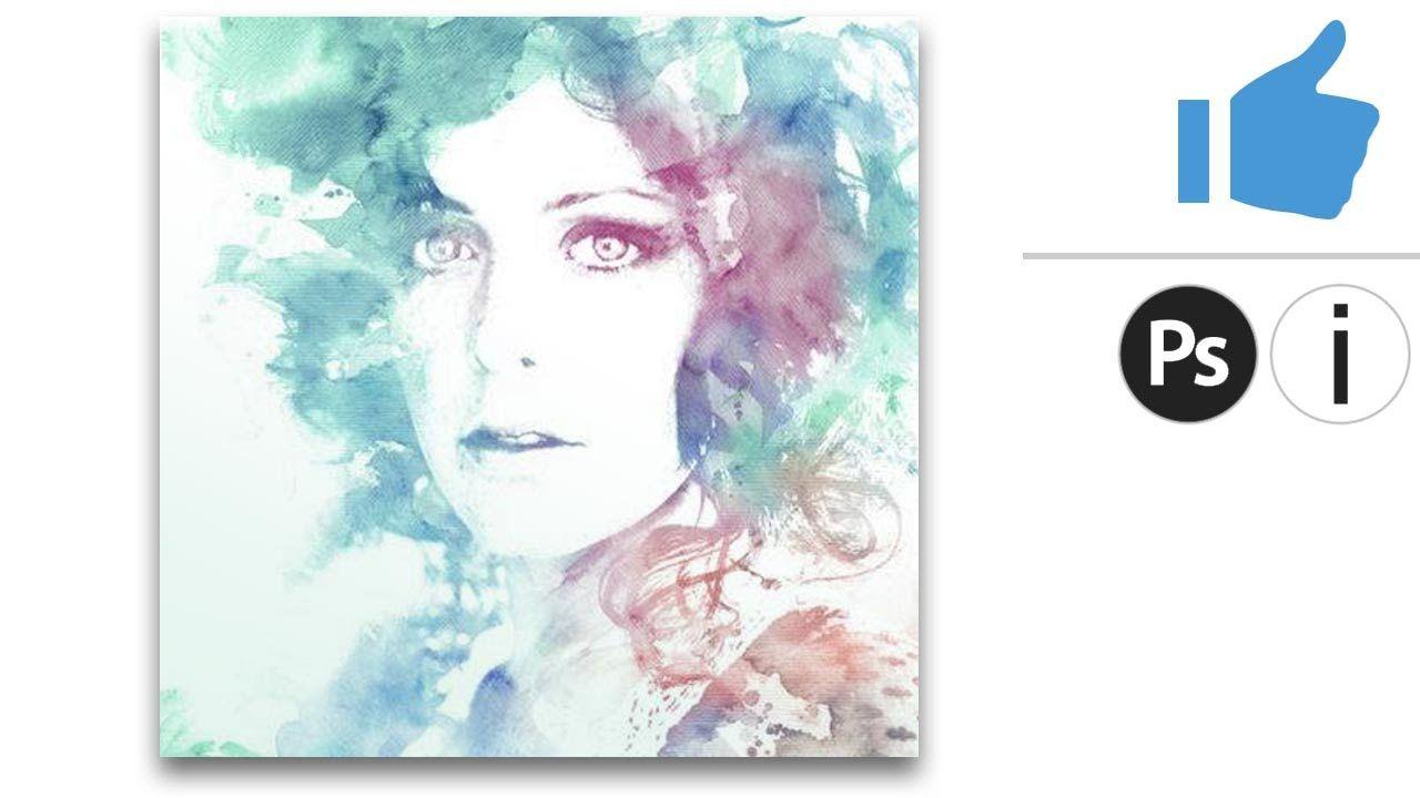 Watercolor effect :: effetto acquerello / tutorial veloce di Photoshop p...
