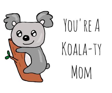 Koalafied To Party Koala Pun Greeting Card Handmade Birthday Gift Funny Bear Card Animal Puns Punny Play On Words Cute Party Bff Koala Puns Pun Card Dad Cards