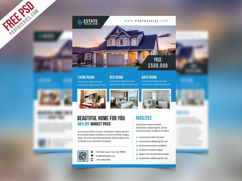 real estate flyers free templates