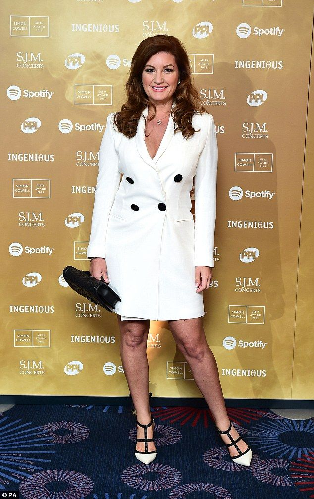 A blearyeyed Caroline Flack stumbles out of awards do
