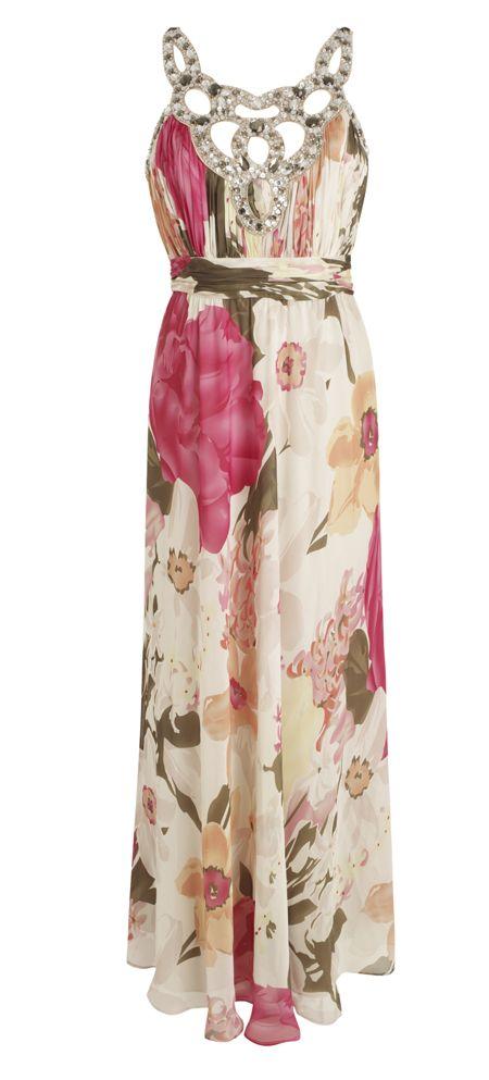 Floral Maxi Dresses for Wedding | Jenny-Packham-Embellished floral ...
