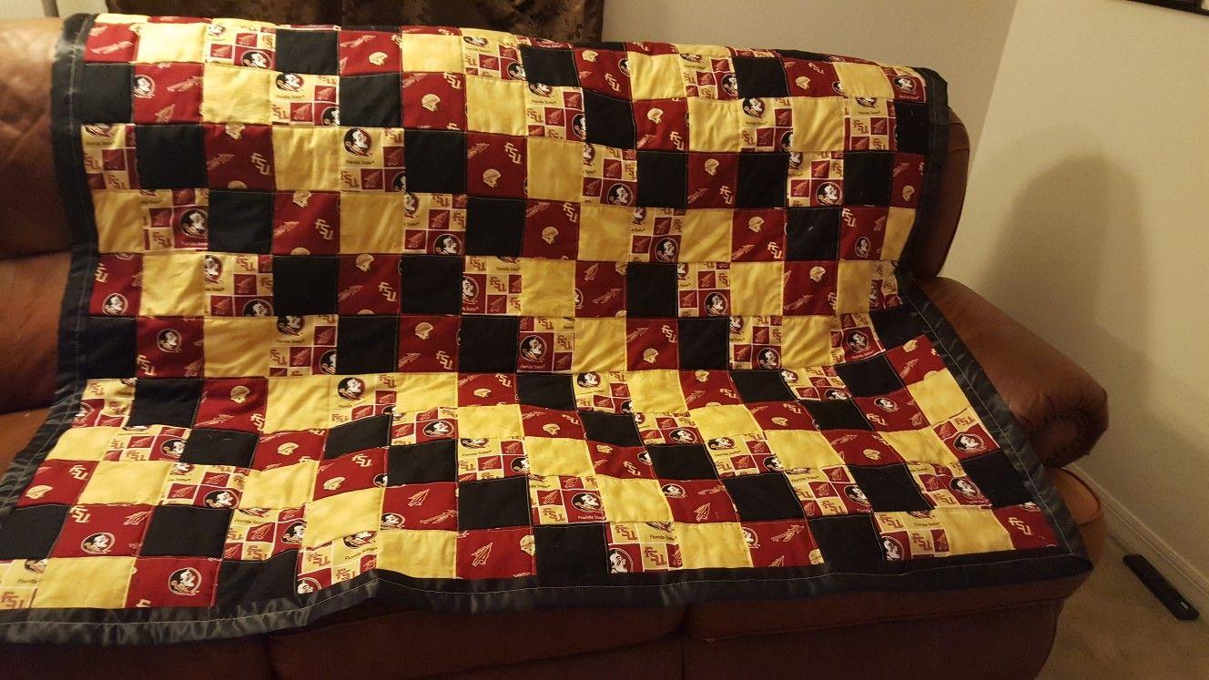 Seminole throw quilt