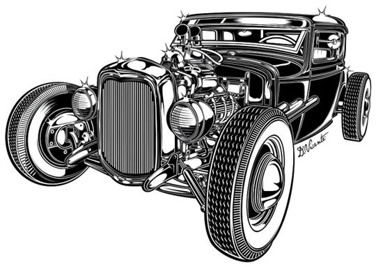 Illustration By David Vicente Car Artwork Automotive Art Motorcycle Art
