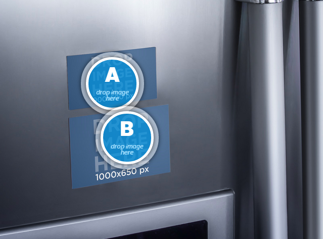 Placeit Refrigerator Magnets Mockup Of Two Images Refrigerator Magnets Refrigerator Silver Refrigerator