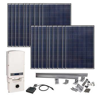 Grape Solar 5830 Watt Grid Tied Solar Kit Solar Energy Panels Solar Kit Best Solar Panels