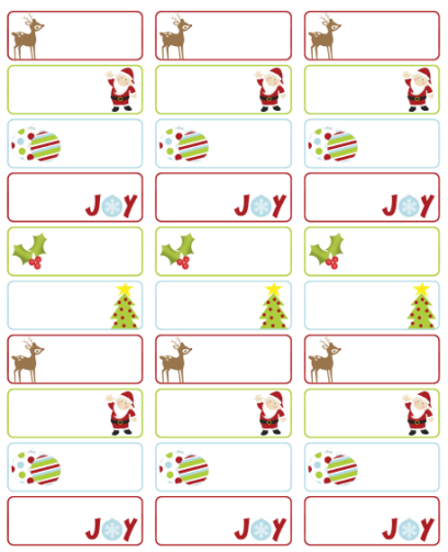 graphic about Christmas Labels Printable named Xmas Deal with Labels. Cost-free template obtain. Layout via