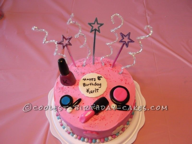 Sweet Makeup Cake For An  Year Old Girl - Birthday cake 8 year old