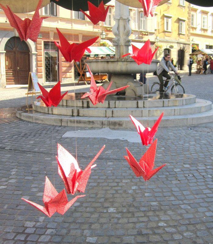 Origami on Gornji trg, Ljubljana http://www.arsorigami.com/