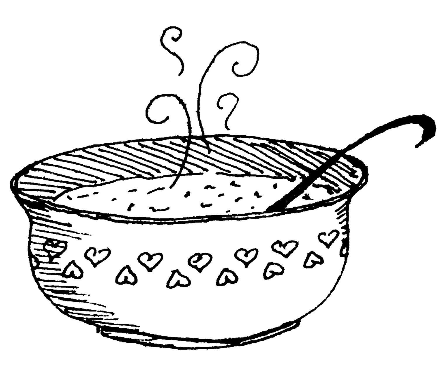Soup Bowl Coloring Pages Wildreissuppe Essen Grafiken