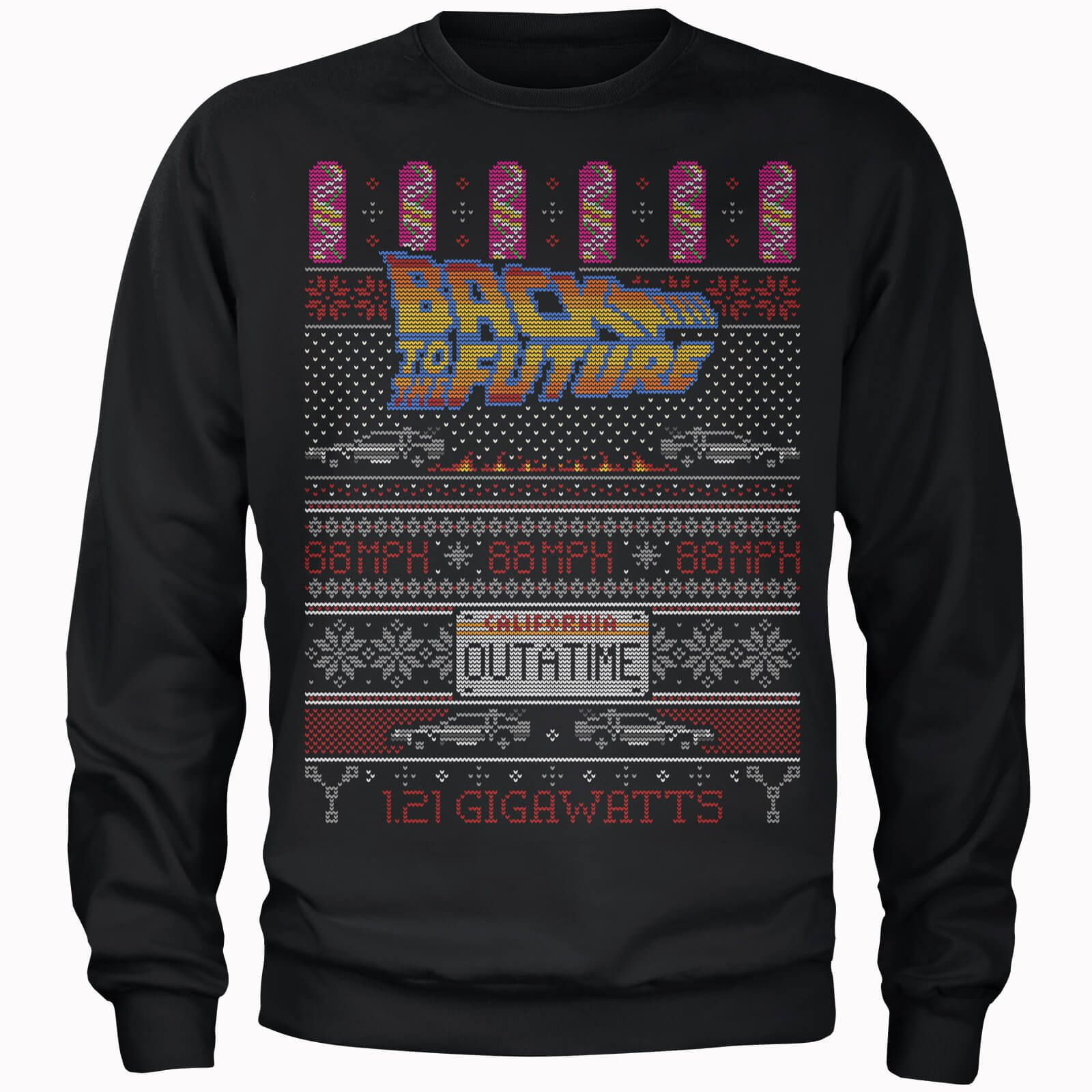 Back To The Future OUTATIME Men's Christmas Sweatshirt