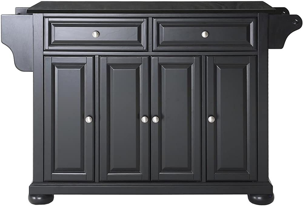 New Crosley Furniture Alexandria Full Size Kitchen Island With Solid Black G Solid Wood Kitchen Cabinets Kitchen Cabinets For Sale Butcher Block Island Kitchen