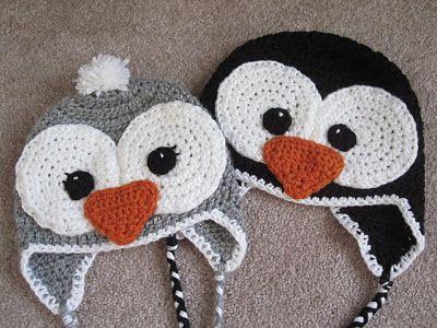 colección de descuento bonito diseño Zapatos 2018 Penguin Hat Pattern | Tocas | Chapéus de crochê para bebê ...