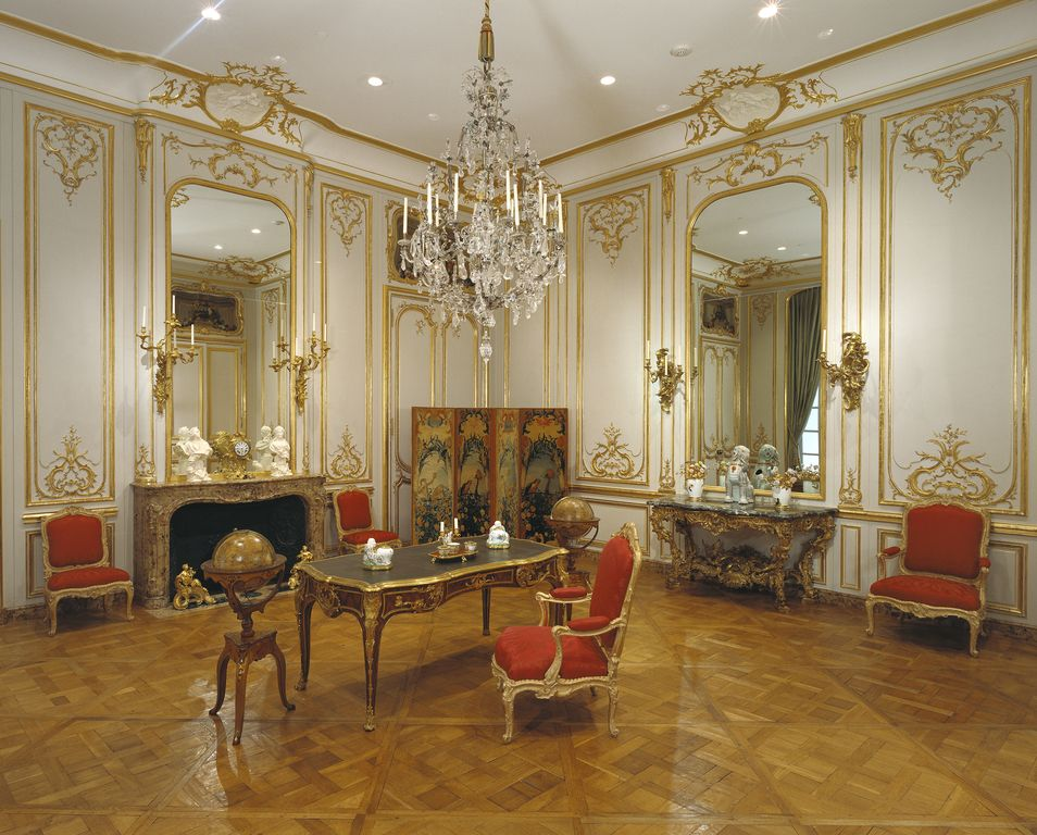 Paneled Room; Unknown; Paris, France; about 1755; Painted ...