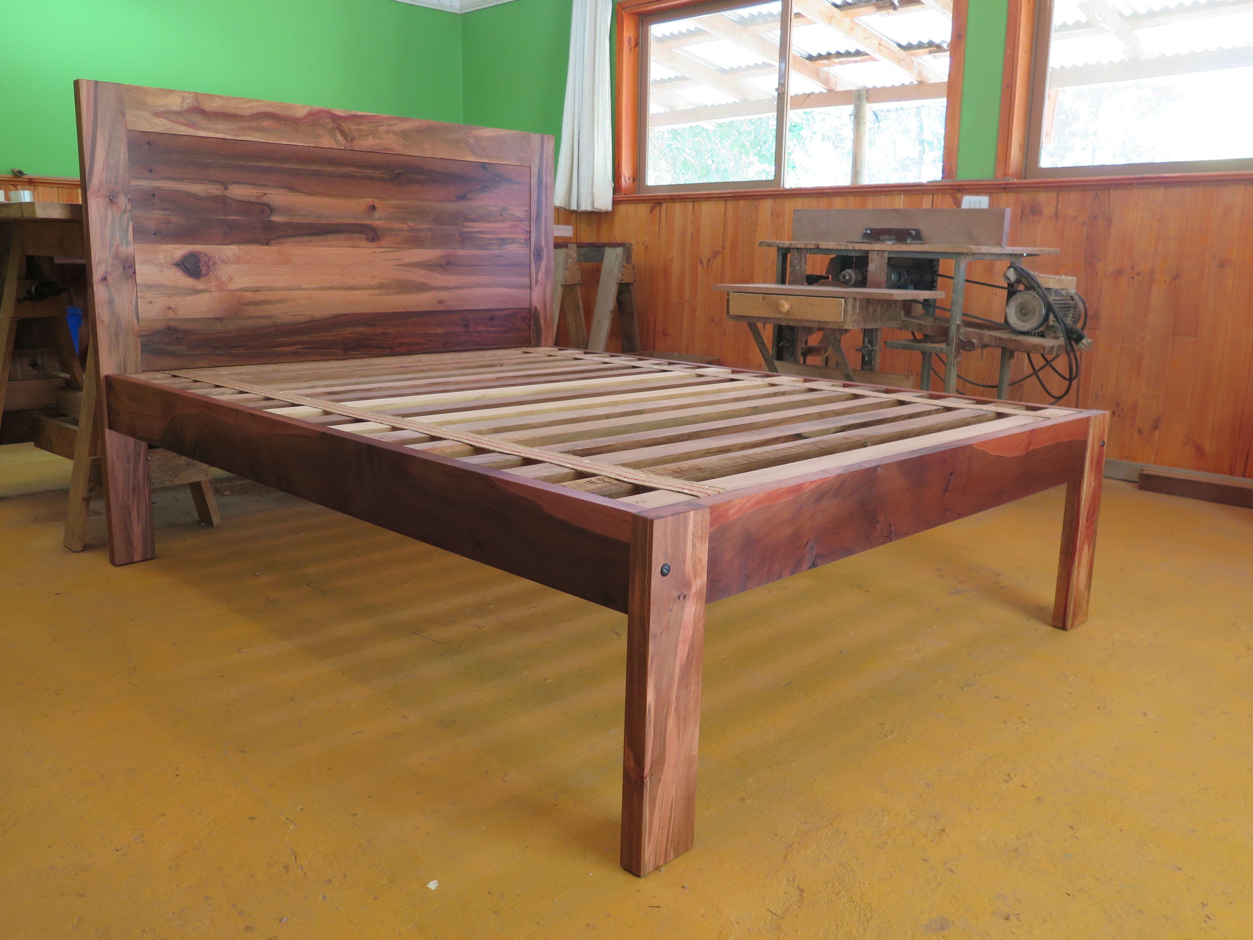 Cama dos plazas en madera de Hualo. | Mis Trabajos | Pinterest ...