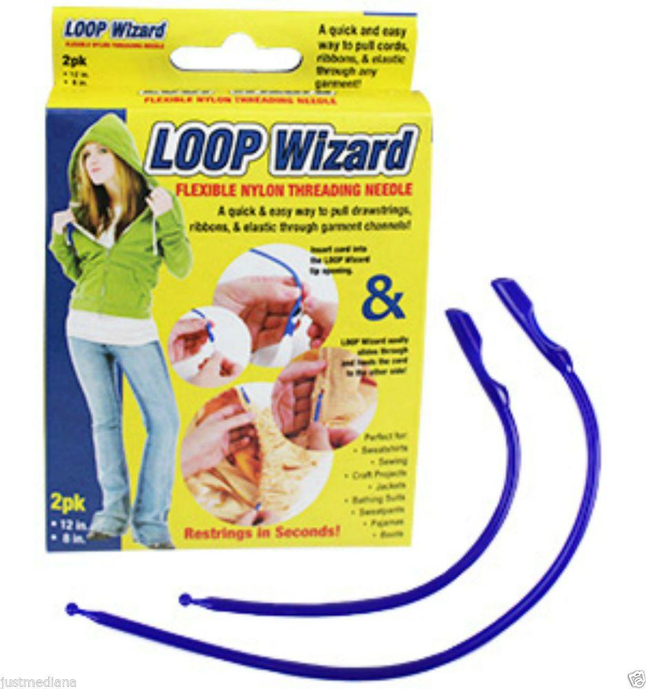 2 count Loop Wizard Flexible Nylon Threading Needle