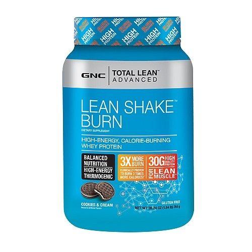 GNC Lean Shake Burn Powder, Cookies & Cream (Ivory), 1 64
