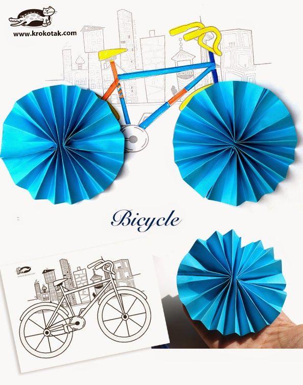 Anasınıfı Bisiklet Sanat Etkinlikleri Okulöncesi Pinterest