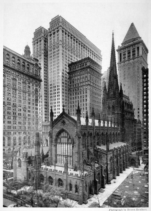 trinity church new york city gothic revival architecture with
