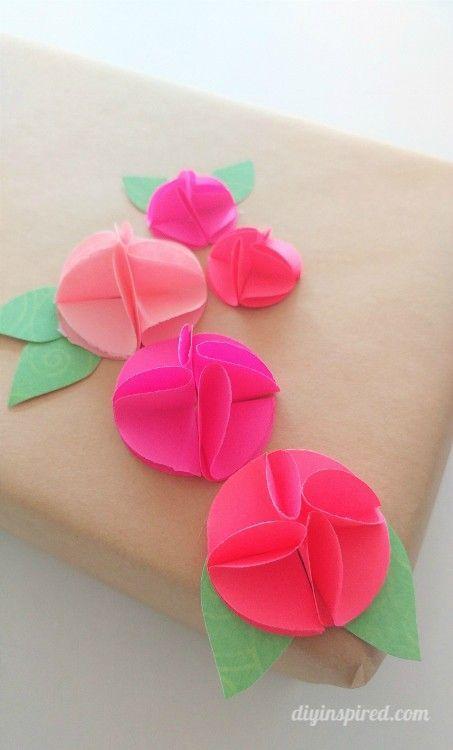 Easy circle punch paper flowers tutorial best crafts on pinterest easy circle punch paper flowers tutorial mightylinksfo