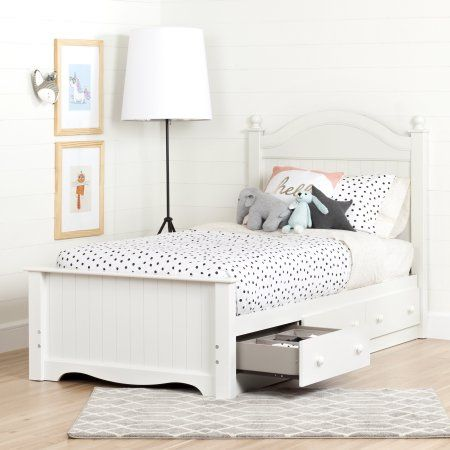 South Shore Savannah Twin Bed Set with 3 Drawers (39\u0027\u0027), Multiple
