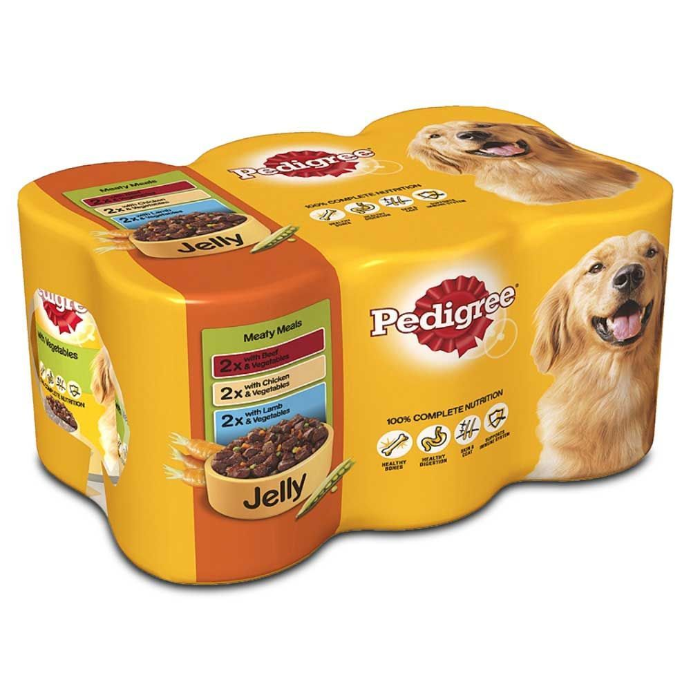 Pedigree Dog Food Tins Meaty Meals 24 X 400g 100 Complete