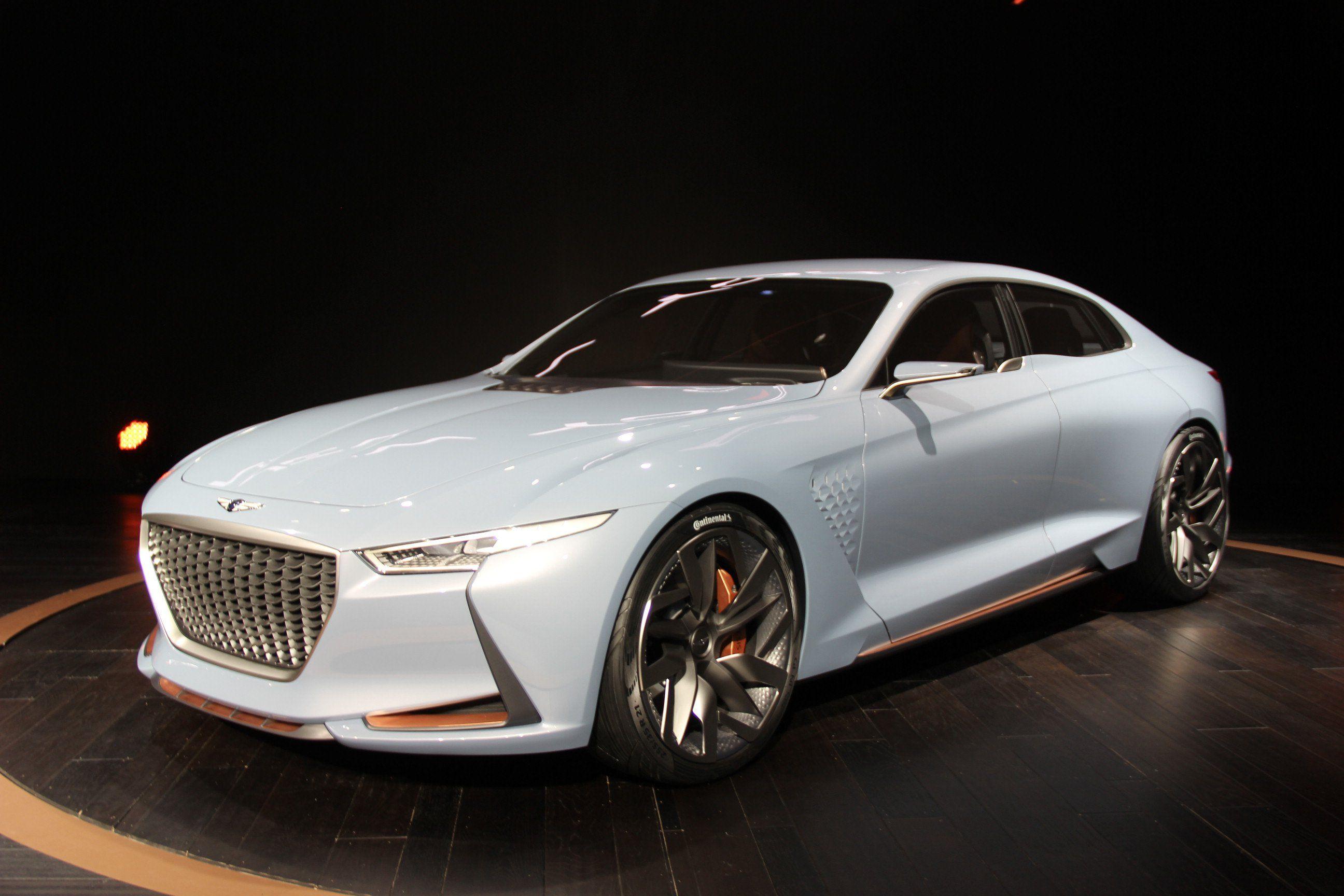 Hyundai Unveils Genesis Hybrid Sport Sedan Concept Car Shows