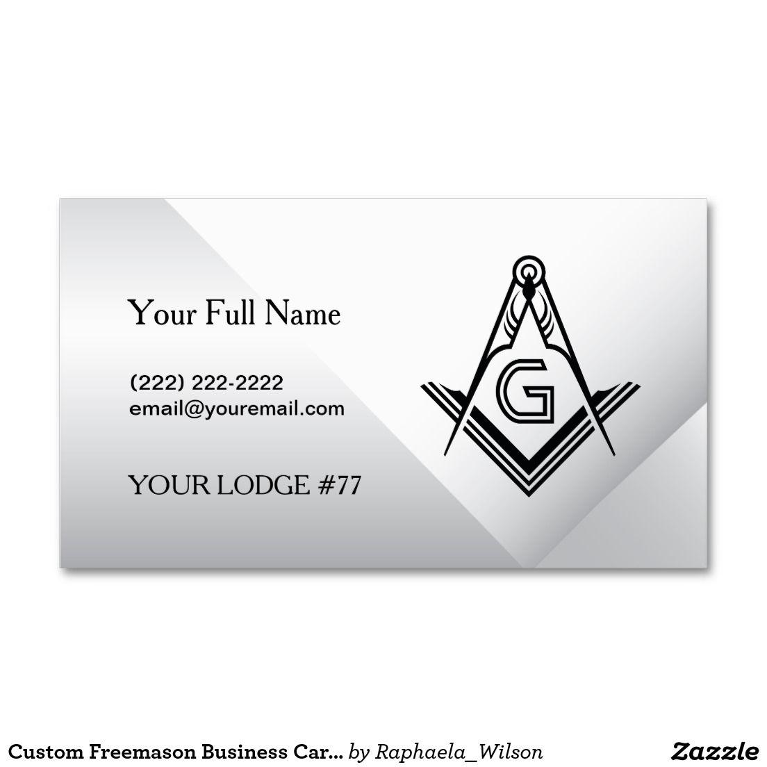 Custom Freemason Business Cards - Masonic Card | Custom Masonic ...