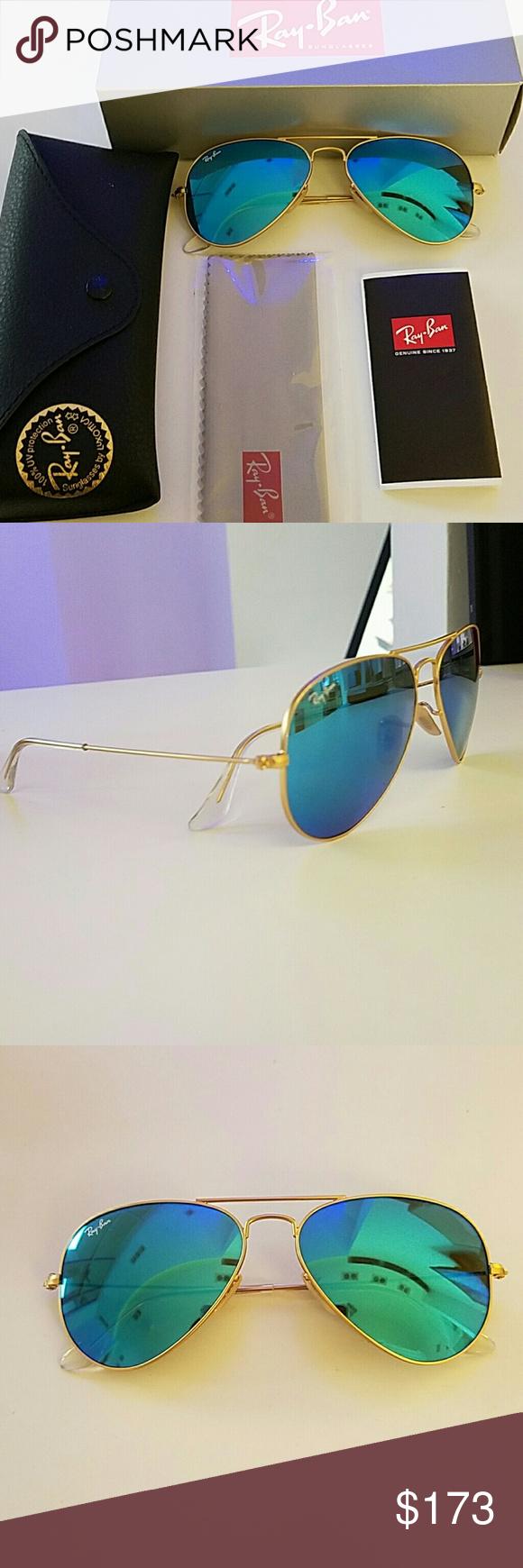 Ray Ban Sunglasses 3025 aviator blue mirror Brand new Ray Ban: 3025 ...