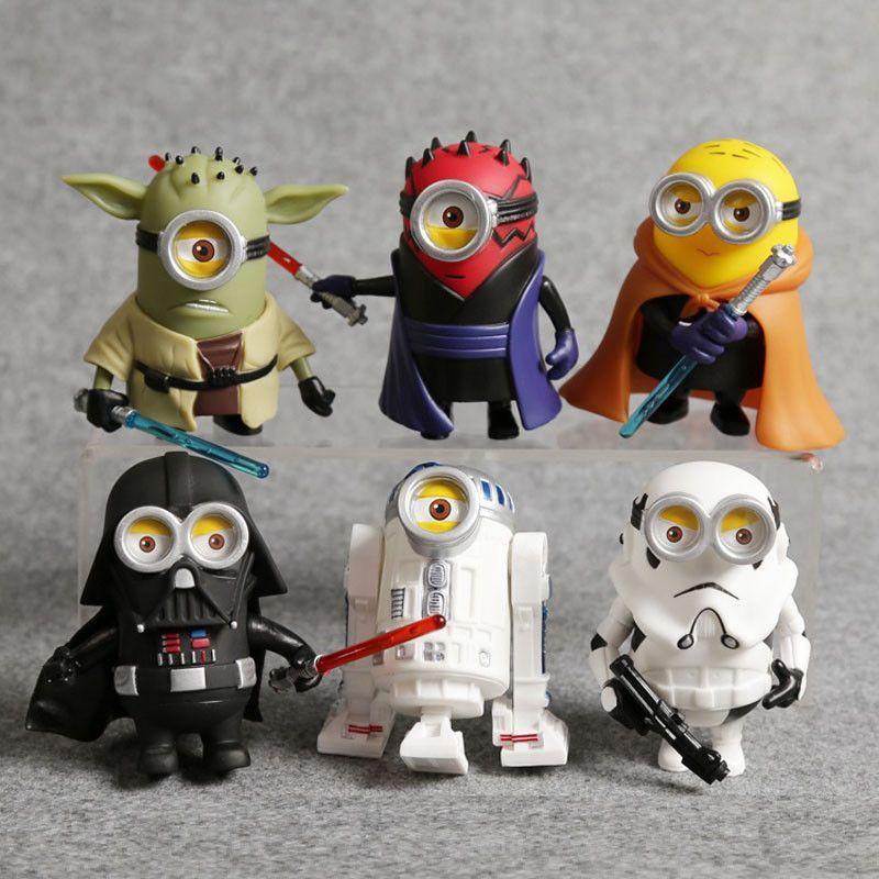 New Pvc Cos Minions Transformed Star Wars Action Figure Jedi Knight