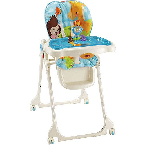 baby chairs at walmart wingback nailhead chair fisher price precious planet sky blue folding high com