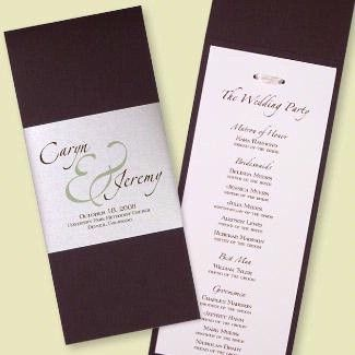 Programs  The Big Day Ideas    Programming Wedding