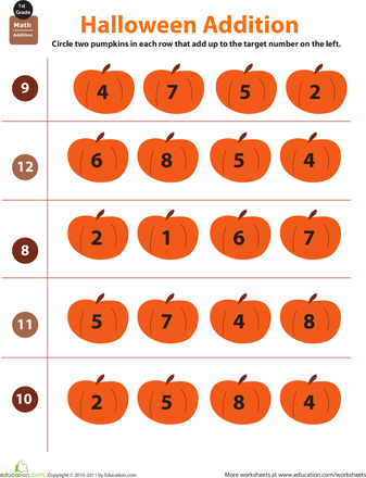 Holiday Math Halloween Addition With Images Holiday Math