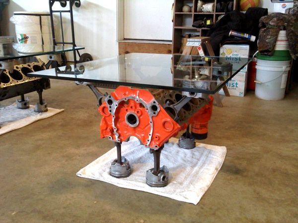 Engine Block Coffee Table | Man Cave Stuff | Pinterest | Engine block, Engine and Coffee