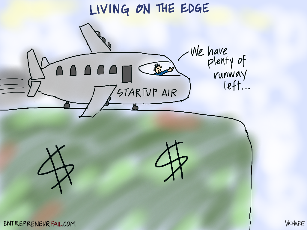 Living On The Edge Your Startup Runway Comic