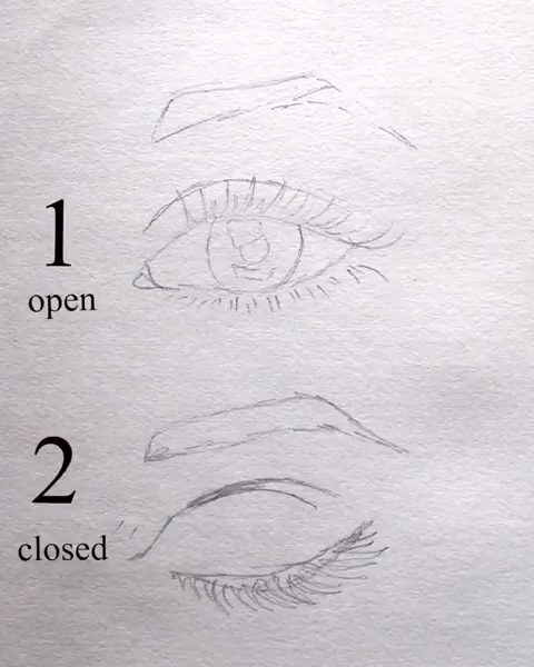 #surelysimpleblog eye drawing video ~ open and closed eyes #pencildrawingtutorials