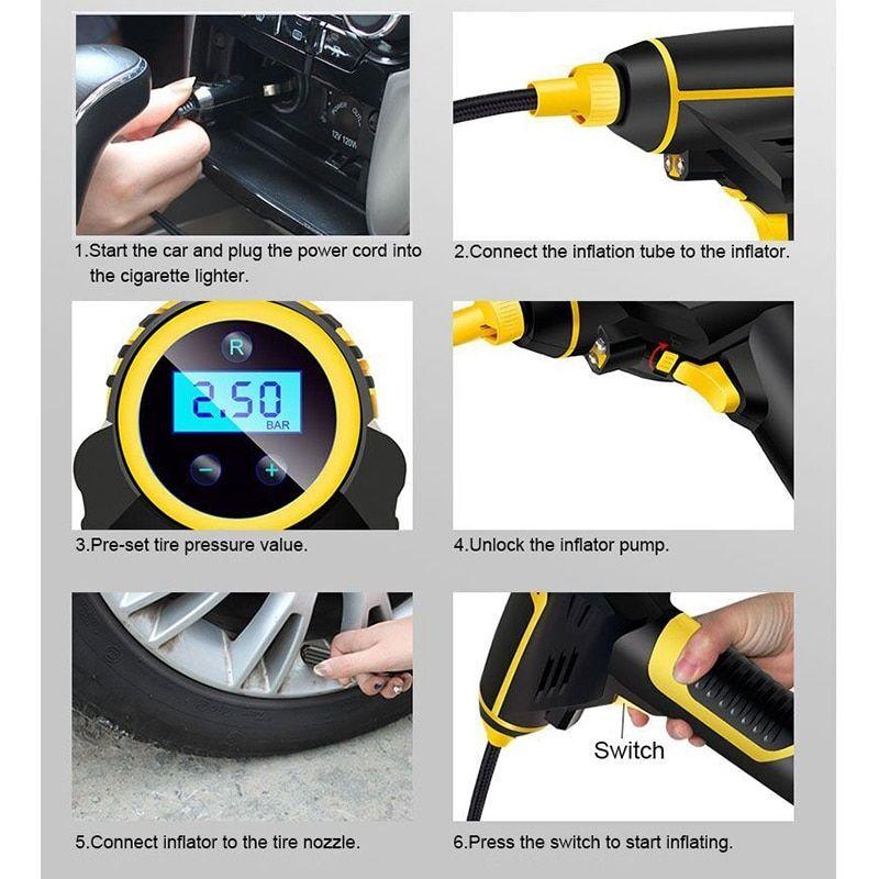 Car air compressor best portable tire