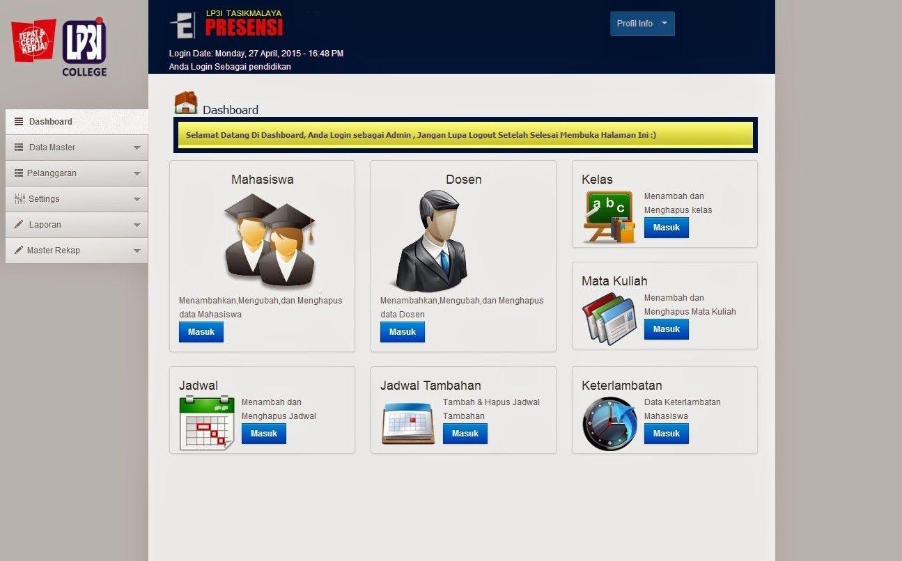 Download Source Code Aplikasi Absensi Online Terbaru Aplikasi Website Mahasiswa