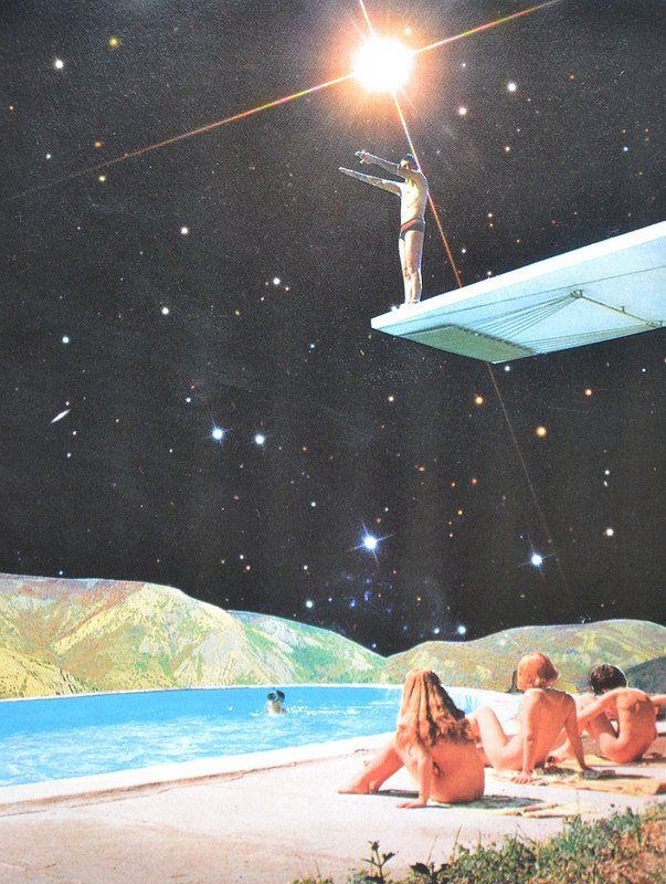 French artist djuno tomsni imagines the perfect summer for Retro outer space