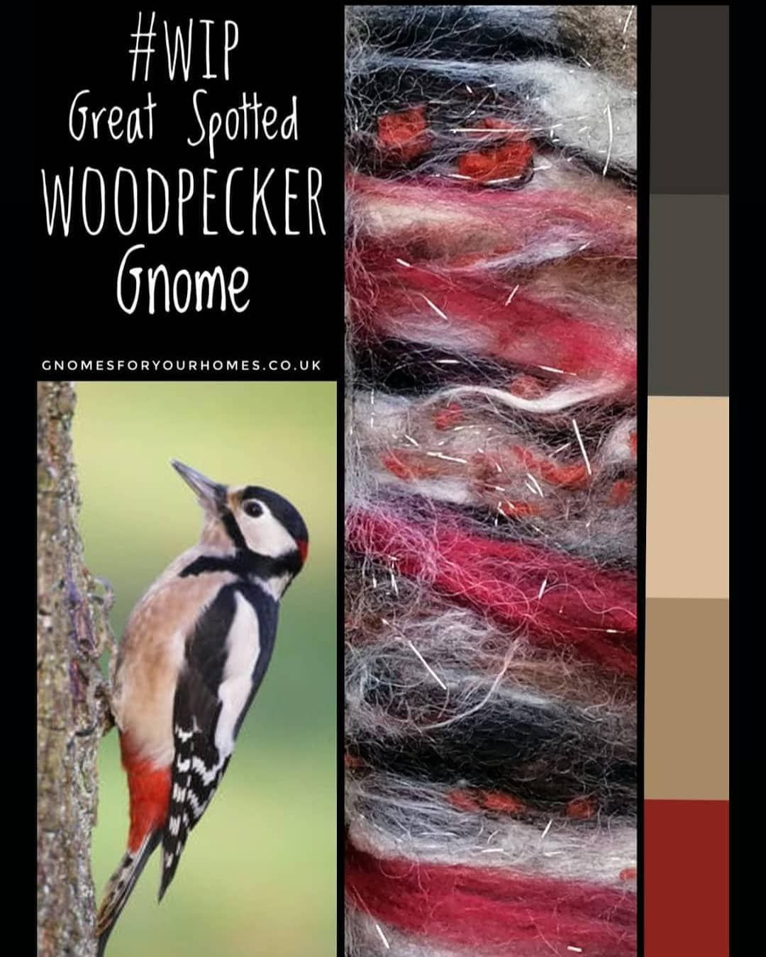 Great Spotted Woodpecker Gnome from gnomesforyourhomes