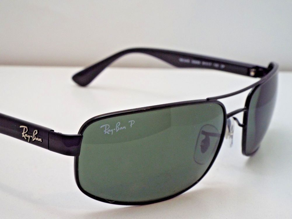 22cf516364e Authentic Ray-Ban RB 3445 002 58 Black Green Classic Polarized Sunglasses   240